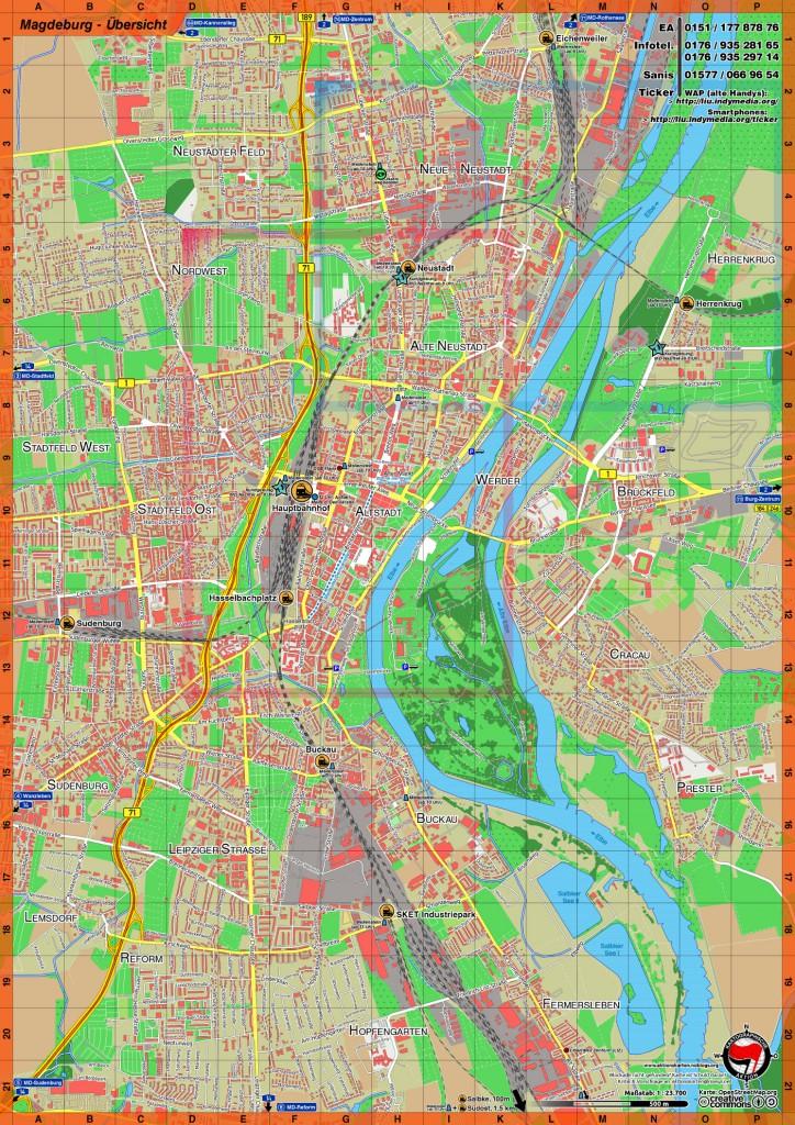 Magdeburg 2014 Übersichtskarte