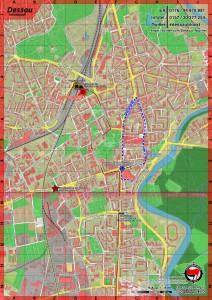 Dessau: Gegenaktionen gegen Naziaufmarsch