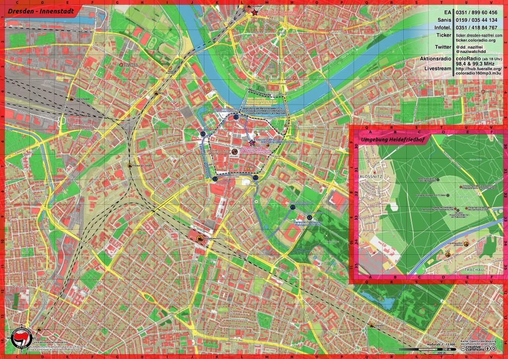 Gegen Geschichtsrevisionismus in Dresden 2015
